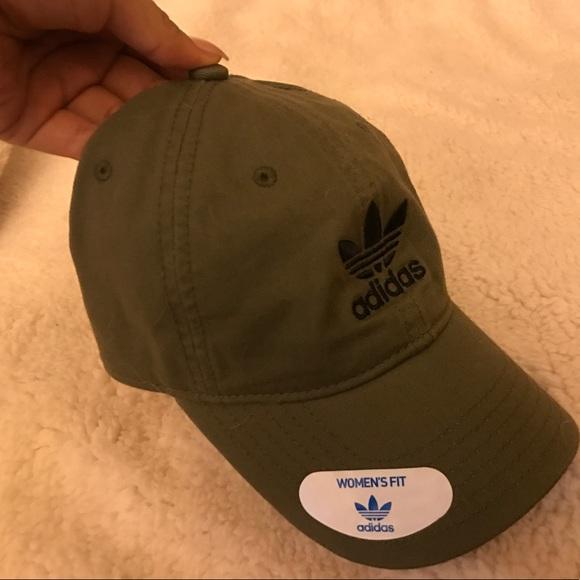 Beautiful olive green adidas hat fe9e10f8606
